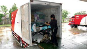 บริการไปรษณีย์ไทยส่งรถจักรยานยนต์